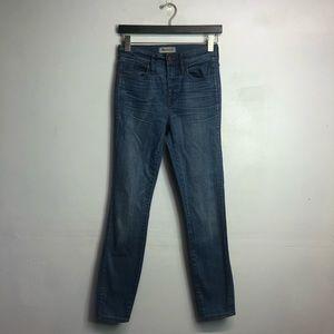 "Madewell 10"" high riser skinny jeans 25"